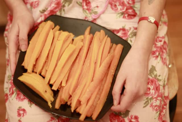 сладък картоф и морков